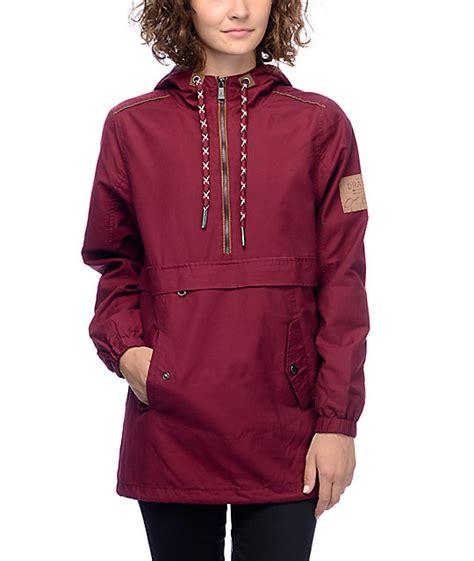 Parka Canvas Maroon Quality dravus gaelyn burgundy canvas anorak jacket at zumiez pdp
