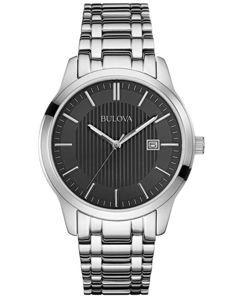 Watches Exclusively At by Bulova S Stainless Steel Bracelet 40mm 96b223