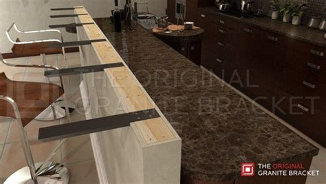 Granite Countertop Overhang Support by Bar Brackets Made In Usa For Countertop Overhangs Steel