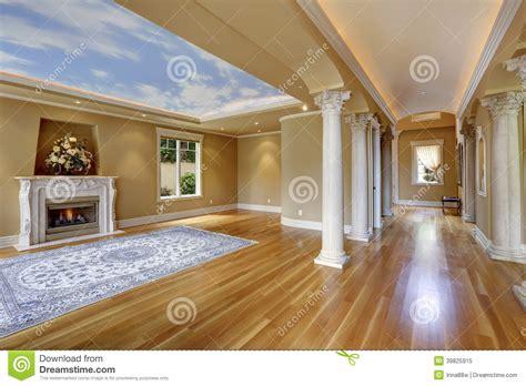 interior house columns luxury house interior living room with column stock photo