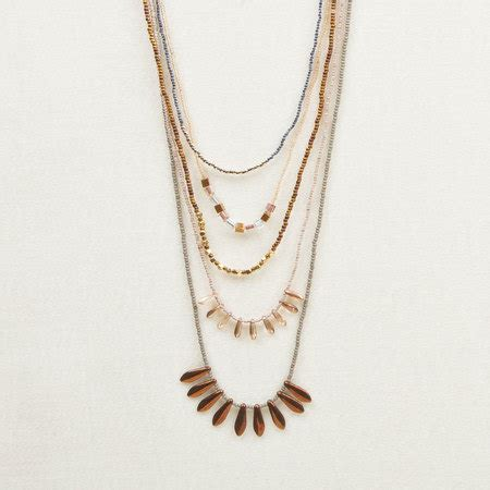 Kalung Multi Spike Charm multi strand spike necklace altiplano