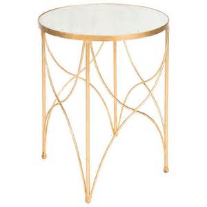 Gold Side Table Cross Hatch Gold Side Table