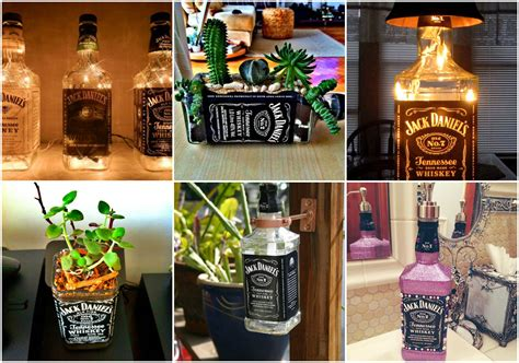 mit jack daniels flaschen zaubern  tolle deko ideen