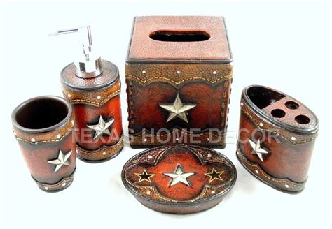 texas star bathroom accessories rustic texas star bathroom accessory set 5 pieces faux