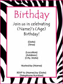 birthday invitation template birthday invitations template best template collection