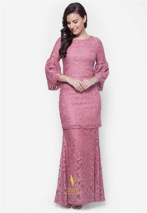 Baju Elegan Simple model baju atasan muslim yang elegan dan baju kurung moden lace vercato nora in dusty pink