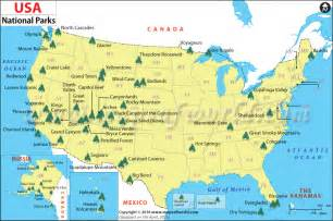 us national parks map list of national parks in the us