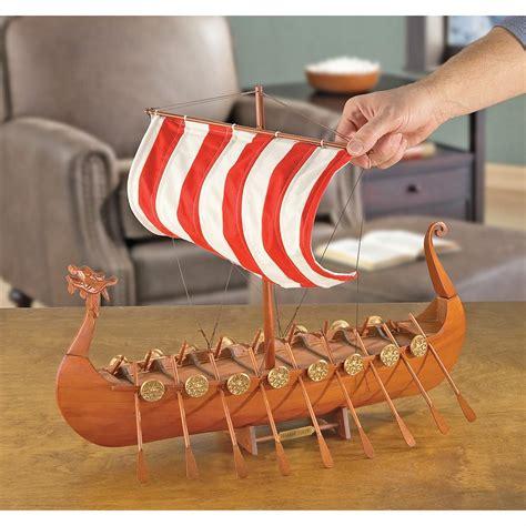 viking longboat model viking longboat model ship 118481 military memorabilia