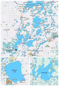 map with lakes brainerd mn lakes map details cragun s resort