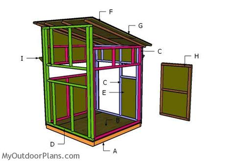 building a house from plans 5x5 shooting house roof plans myoutdoorplans free
