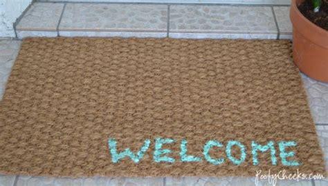 Turquoise Door Mat 10 Diy Doormat Hacks To Spruce Up Your Doorway