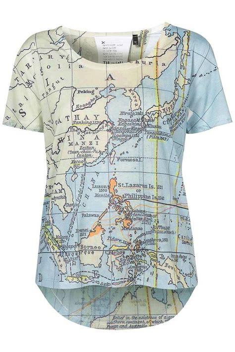 Tshirt World Map shirt map map print t shirt top cool