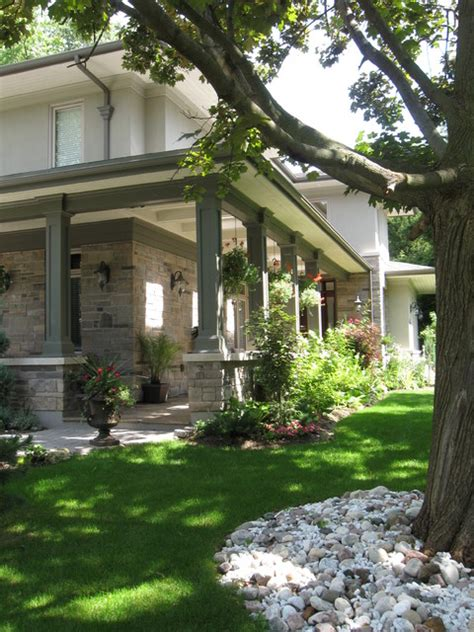 lorne park prairie style home traditional landscape