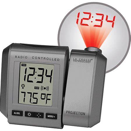 la crosse technology atomic projection alarm clock with inside temperature walmart