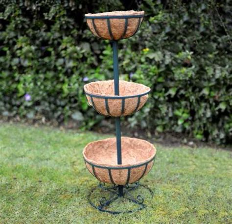 3 Tier Planter Stand by 3 Tier Planter Stand With Coco Liners Garden Flower
