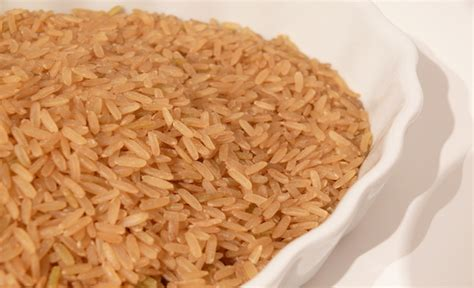 Brown Rice Shelf by Canned Food With Shelf