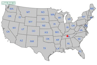 tennessee on a map of the united states nashville city tn information resources about city of