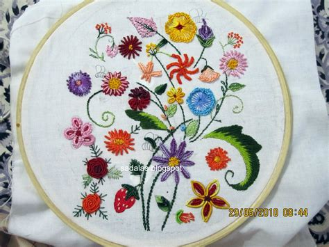 Handmade Embroidery - embroidery stitch library free embroidery patterns