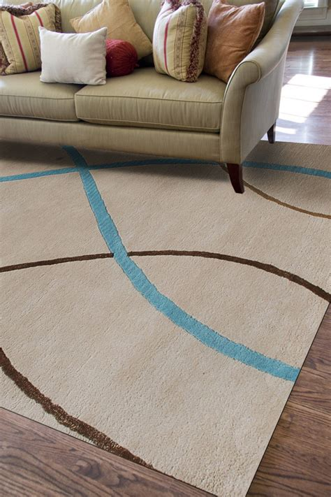 Silk Area Rugs Wholesale Geometric Pattern Ivory 100 Tufted New Zealand Wool Silk Area Rug Wholesale In Carpet From