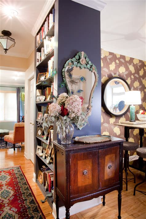 bohemian condo eclectic hall chicago  lisa wolfe