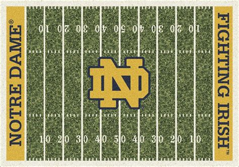 Notre Dame Area Rug Buy Notre Dame Fighting Football Field Logo Rugs