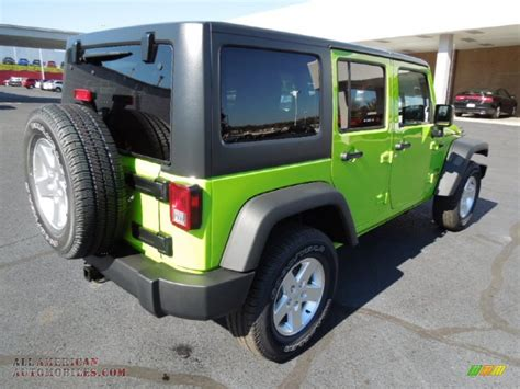Gecko Green Jeep Wrangler Unlimited For Sale 2013 Jeep Wrangler Unlimited Sport S 4x4 In Gecko Green