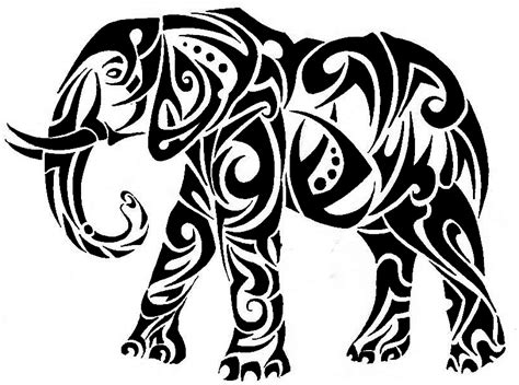 tribal elephant by roxenabernardi on deviantart