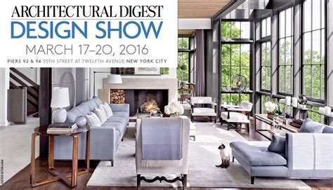 the 2016 architectural digest design show kicks today