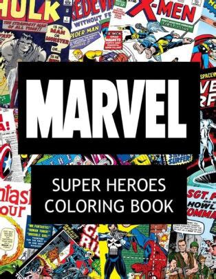 anti stress coloring book barnes and noble marvel heroes coloring book by jackson