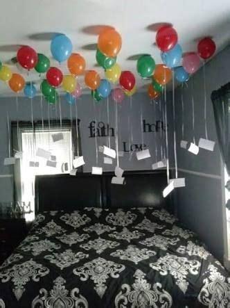 plan surprise gift ideas for birthday, balloon decoration
