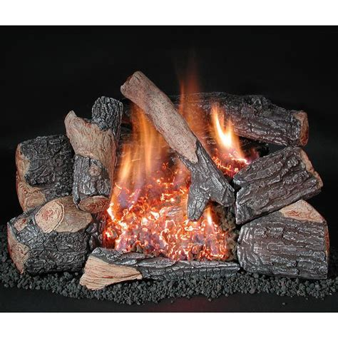 Remote Gas Fireplace Logs by Rasmussen 30 Inch Bark Gas Log Set With Vent Free