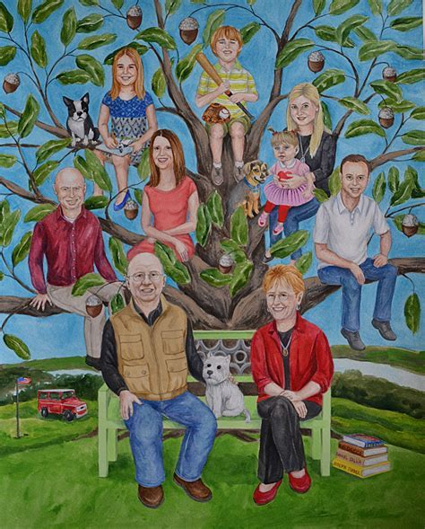 Family Tree for a couple's 50th wedding anniversary