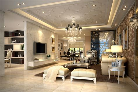luxurious modern living room interior 3d model luxurious living room with royal ornamented walls 3d model max