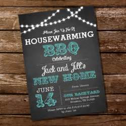 chalkboard housewarming bbq invitation housewarming