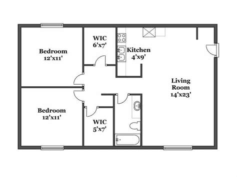 bedroom floorplan hillside floor plans kalamazoo apartments