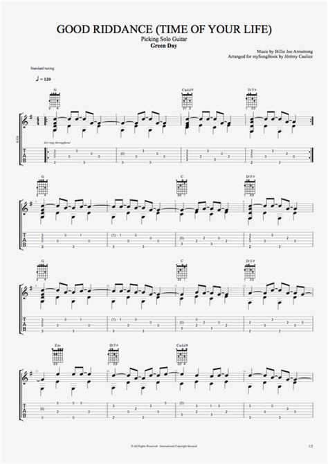 Green Day Time Of Your Life Guitar Chords
