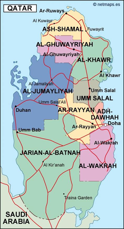 political map of qatar qatar political map illustrator eps city country maps