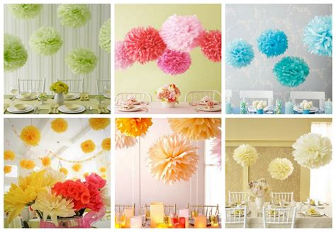 wishes tissue paper pom poms