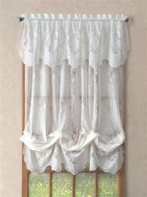 balloon lace curtains lace valances balloon shades swags m valances