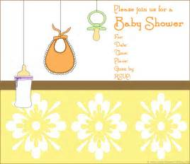 Baby Invitation Templates by Baby Shower Invitation Free Baby Shower Invitation