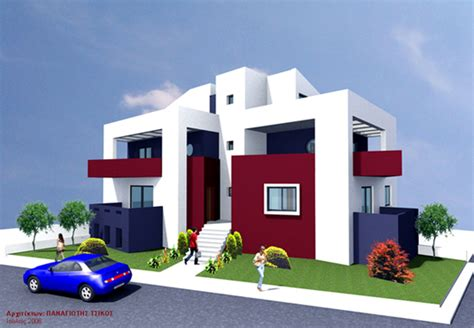 architectural home design by csa co category house complex neighbourhood type exterior architectural home design by panagiotis tsikos category