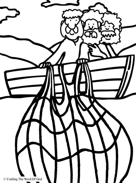 coloring pages jesus fish disciples miraculous catch of fish coloring page 171 crafting the