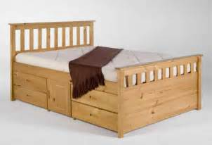 King Frame With Drawers by King Size Oak Bed Frame With Drawers Wooden Global