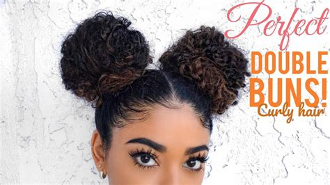 Two Buns Hairstyle Hair Black by Buns Curly Hair Black Hair