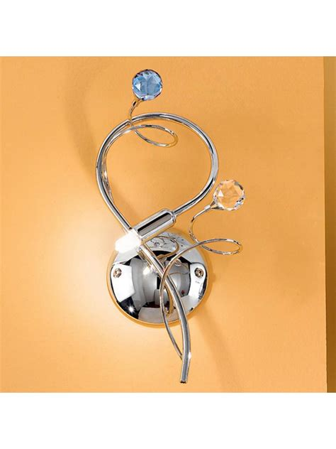 applique con cristalli applique classico con cristalli 2 gioconda argento