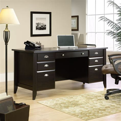 sauder outlet shoal creek 65 executive desk 30 1 2 h x