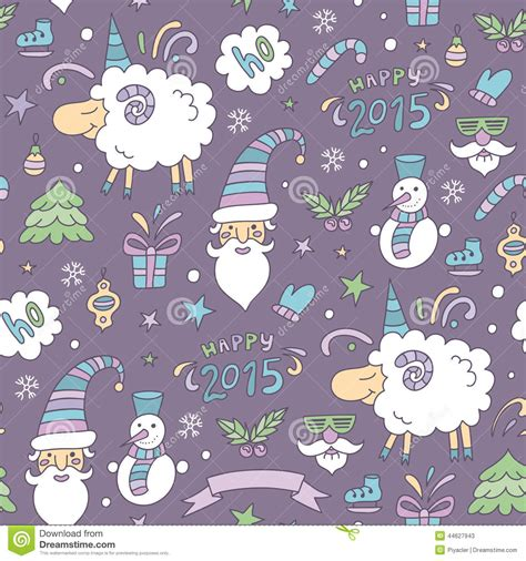 new year sheep pattern seamless colored pattern with sheep stock vector