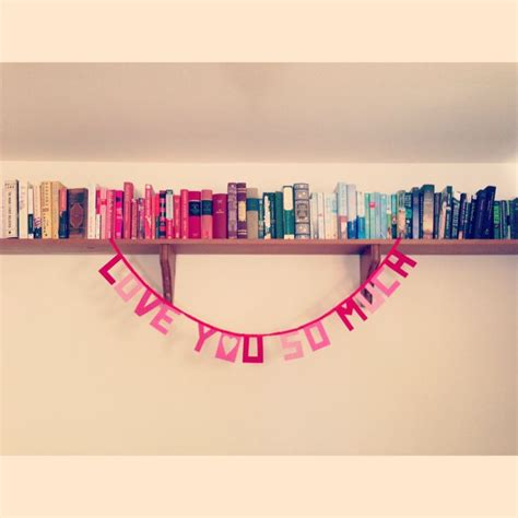 color coordinated bookshelf and s day felt