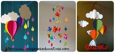 decorar hojas de otoño guarderia moviles de papel y cartulina collage imagenes educativas