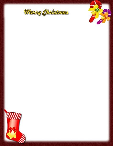 free santa letterhead template 9 best images of printable letter free